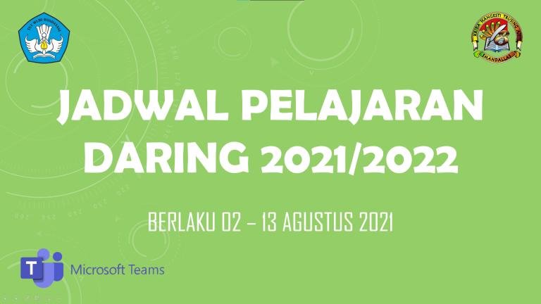 Jadwal Pelajaran Daring 2021/2022